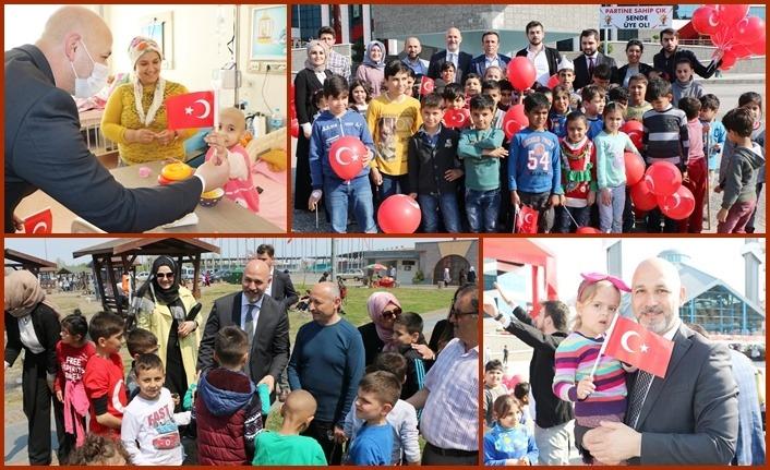 AK Parti'den hastanede bayram sevinci