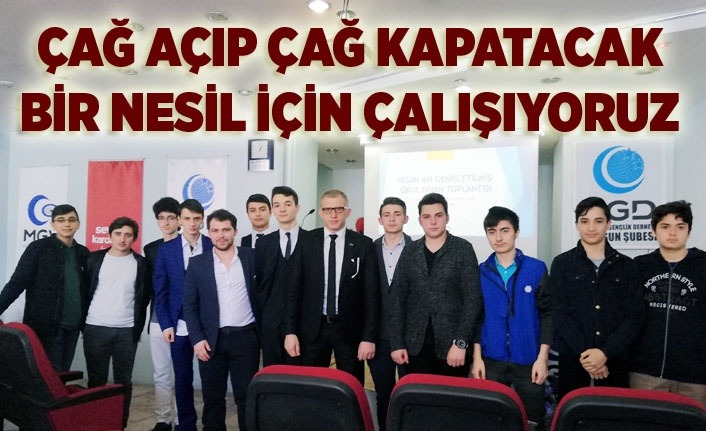 Anadolu Gençlik sıkı çalışıyor