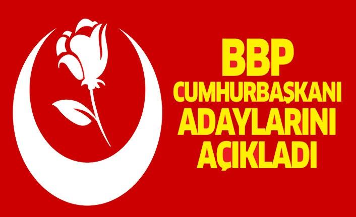 Büyük Birlik Partisi Cumhurbaşkanı adayını açıkladı!
