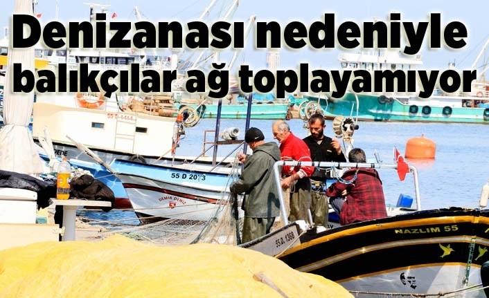 Çaça avını sürdüren balıkçılar ağlarını çekemez hale geldi