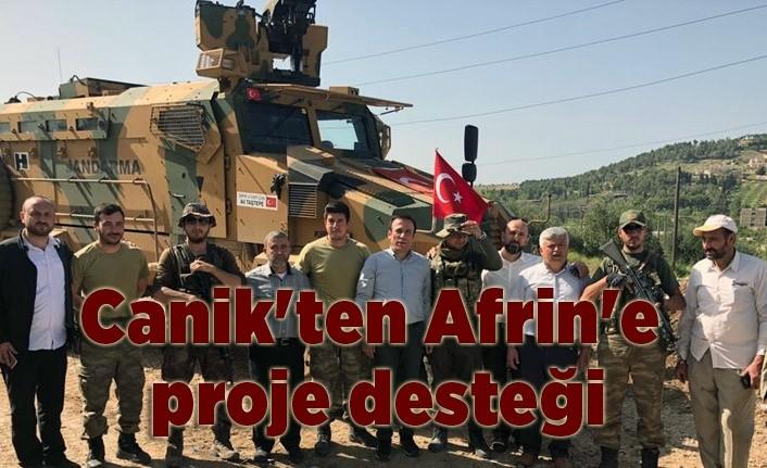 Canik Belediye Başkanı Osman Genç Afrin'de