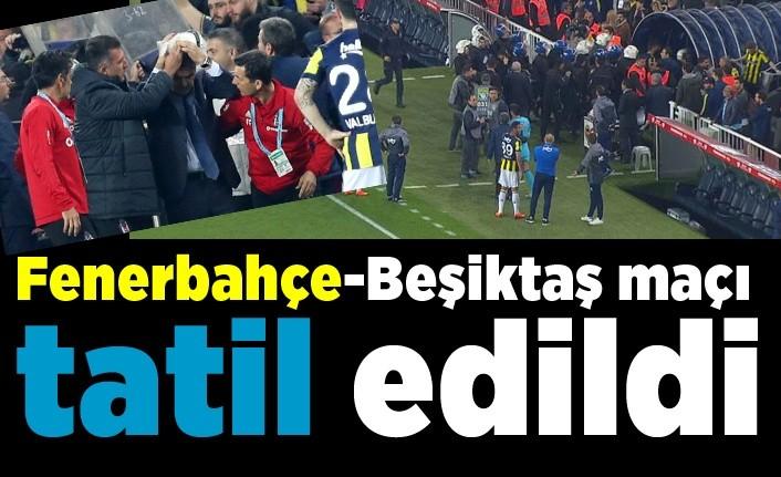 Fenerbahçe-Beşiktaş maçı neden tatil edildi?