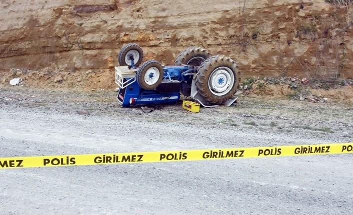 Samsun'da kadın traktör sürücüsü öldü