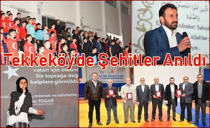 Tekkeköy Belediyesi'nden Şehitlerimiz için özel program