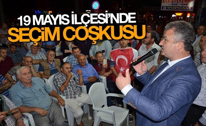 19 Mayıs İlçesi'nde Seçim Coşkusu