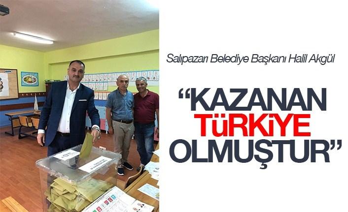 Akgül; Kazanan Türkiye Olmuştur