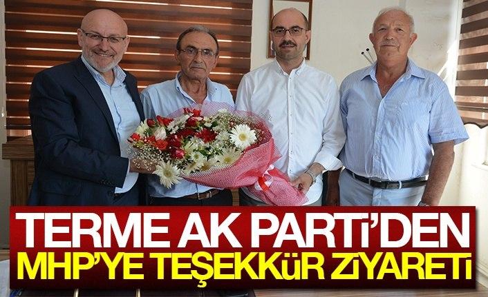 Terme AK Parti'den MHP'ye teşekkür ziyareti