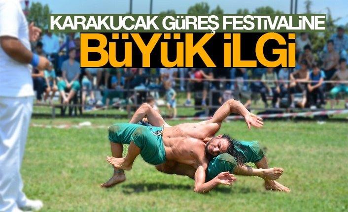 Karakucak Güreş Festivaline Büyük İlgi