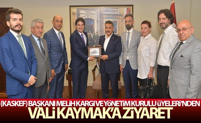 (KASKEF) Başkanı Merih KARGI ve Yönetim Kurulu Üyelerin'den Vali Kaymak'a Ziyaret