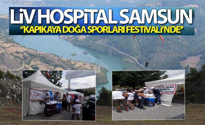 """Liv Hospital Samsun """"Kapıkaya Doğa Sporları Festivali""""nde"""
