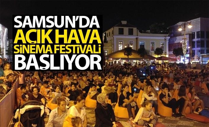 Samsun'da 'açık hava sinema festivali' başlıyor