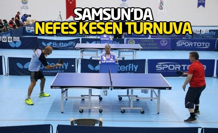 Samsun'da masa tenisi heyecanı: Kurumlar yarışıyor!