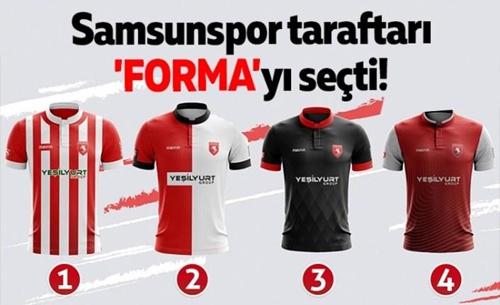 Samsunspor taraftarı 'Forma'yı seçti!