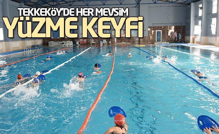 Tekkeköy'de Her Mevsim Yüzme Keyfi