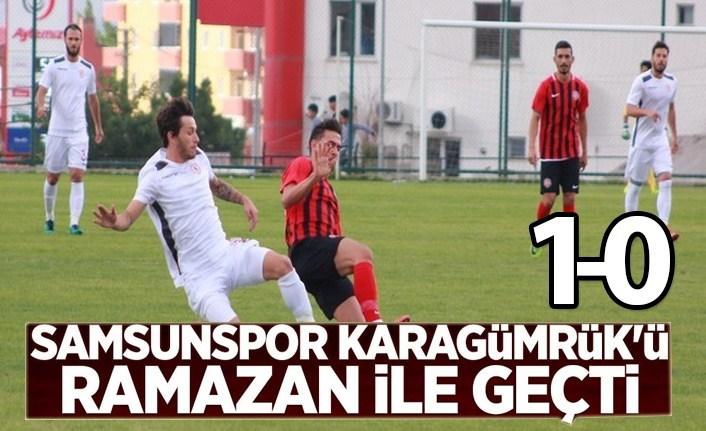 Samsunspor Karagümrük'ü Ramazan ile geçti 1-0