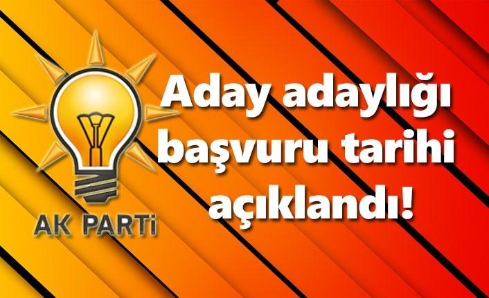AK Parti'den Belediye Başkanı aday adayı başvuru tarihi açıklandı!