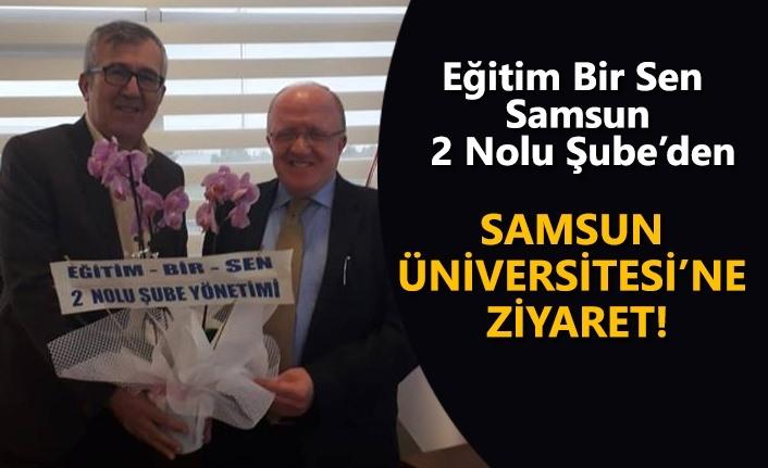 Eğitim Bir Sen Samsun 2 Nolu Şube'den Samsun Üniversitesine Ziyaret