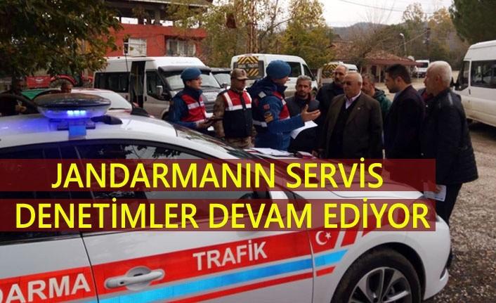 Samsun Jandarma'dan servis denetimi