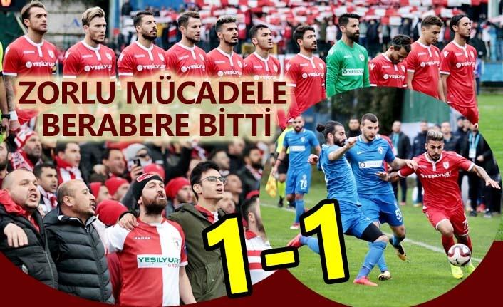 Sarıyer - Samsunspor maç sonucu 1-1