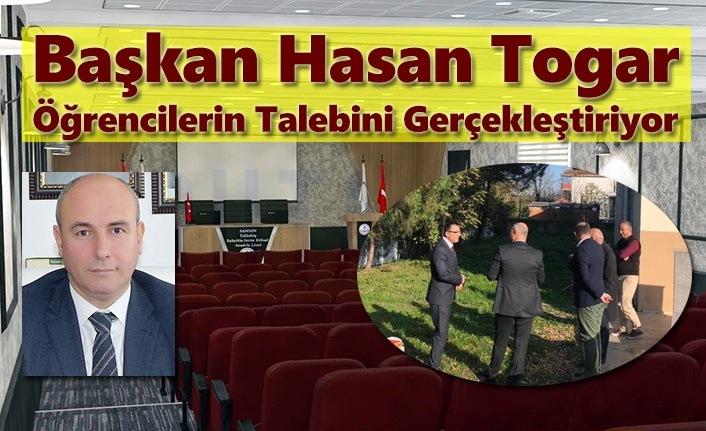 Başkan Hasan Togar'dan Öğrencilere Konferans Salonu