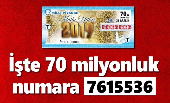 Milli Piyango sonuçları açıklandı... İşte 70 milyonluk numara