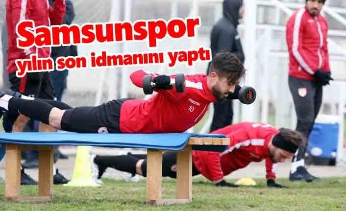 Samsunspor yılın son idmanını yaptı