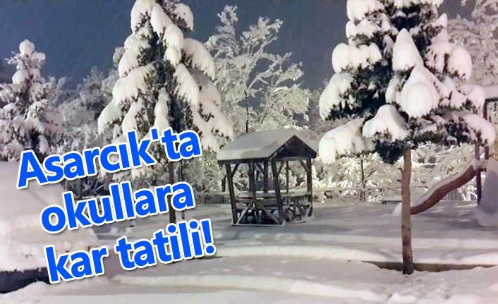 Asarcık'ta okullara kar tatili!