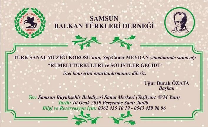 Balkan Türkleri Derneği'nden konser