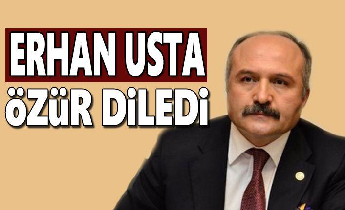 Erhan Usta kararını verdi Özür diledi