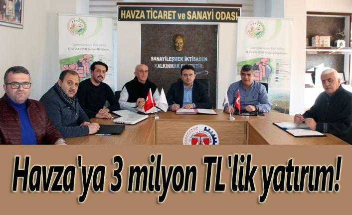 Havza'ya 3 milyon TL'lik yatırım!