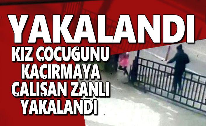 Kız Çocuğunu Kaçırmaya Çalışan Zanlı Yakalandı
