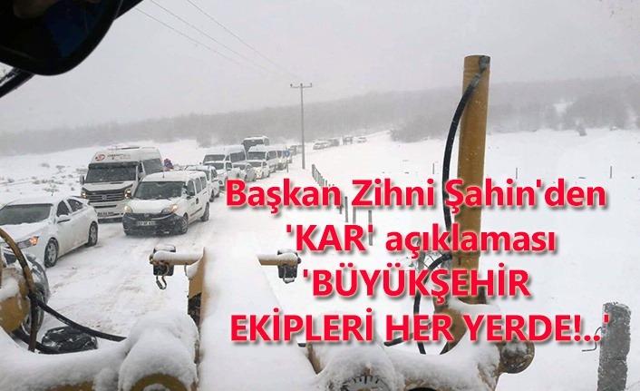 Samsun Büyükşehir kar ile mücade ediyor!