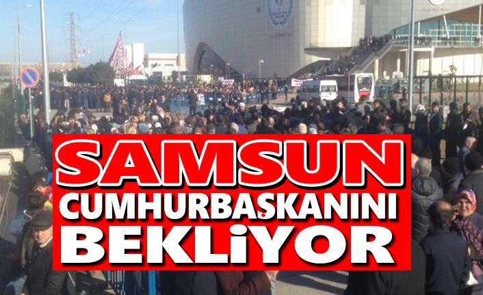 Samsun Cumhurbaşkanı Recep Tayyip Erdoğanı Bekliyor