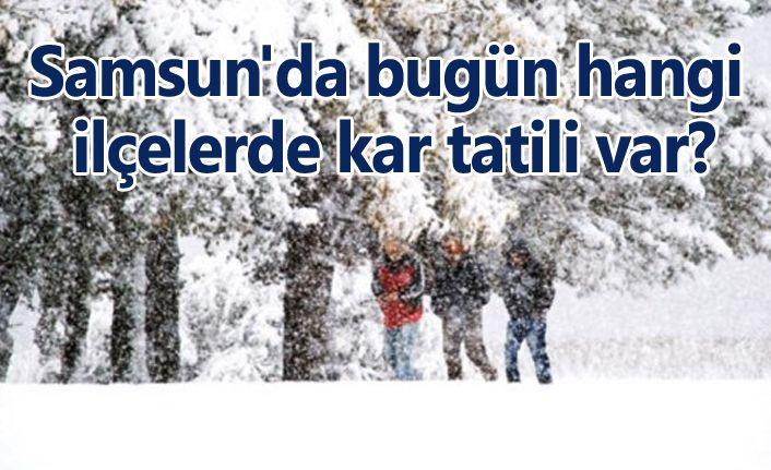 Samsun'da bugün hangi ilçelerde kar tatili var?
