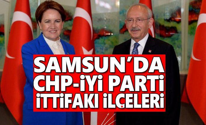 Samsun'da CHP ve İYİ Parti'ye verilen ilçeler