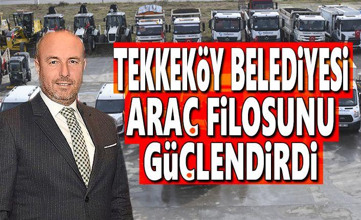 Tekkeköy Belediyesi Araç Filosunu İkiye Katladı