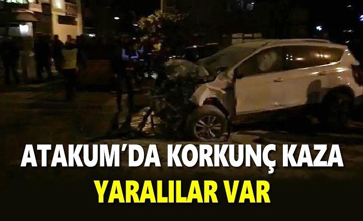 Atakum'da 5 araçlı zincirleme kaza, yaralılar var!