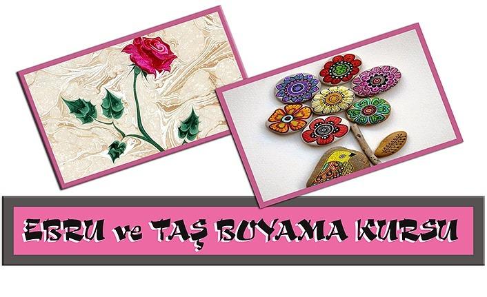 Bafra Belediyesi'nden Ebru ve Taş Boyama Kursu