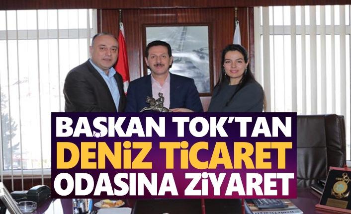 Başkan Tok'tan Deniz Ticaret Odası'na Ziyaret