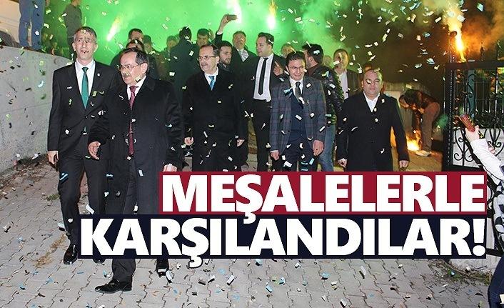 Mustafa Demir, Atakum'da meşalelerle karşılandı