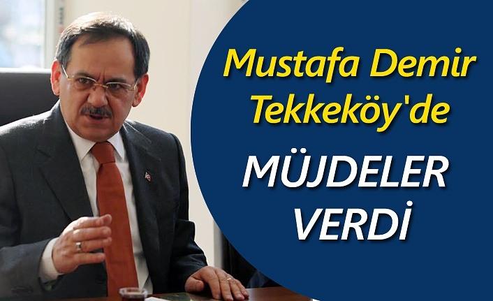 Mustafa Demir, Tekkeköy'de esnaf ve vatandaşla buluştu