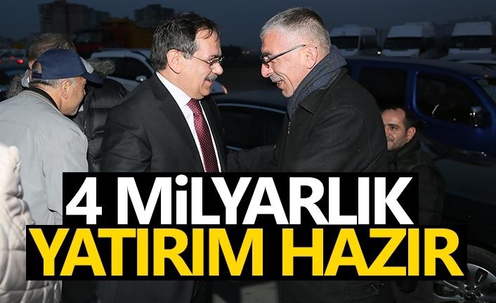Mustafa Demir: 4 milyarlık yatırım hazır