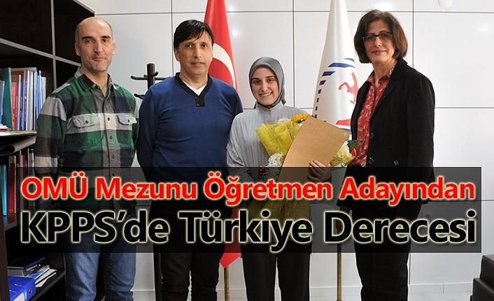 OMÜ Mezunu Türkiye dördüncüsü oldu!