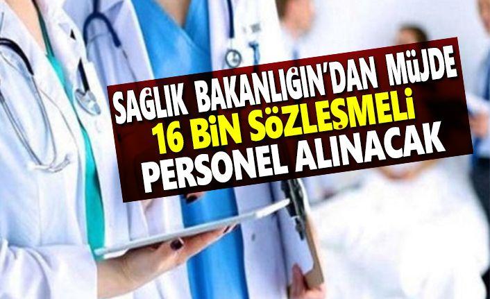 Sağlık Bakanlığı'ndan müjde, 16 Bin Sözleşmeli Personel Alınacak