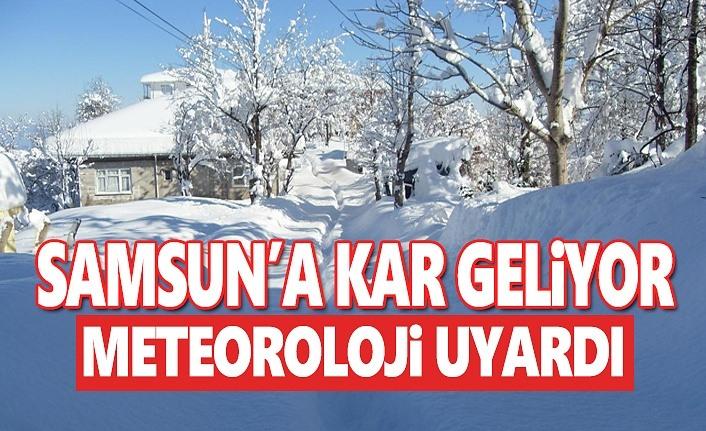 Samsun'a Kuvvetli Kar Uyarısı,İşte O İlçeler
