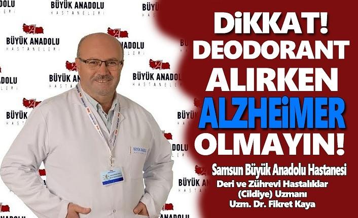 Büyük Anadolu Hastanesi Bildiriyor Deodorant Alırken Dikkat!