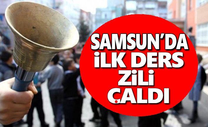 Samsun'da ilk ders zili çaldı,Haydi Çocuklar Okula !