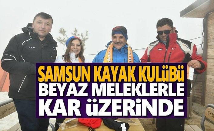 Samsun Kayak Kulübü Beyaz Melekler İle Kar Üzerinde