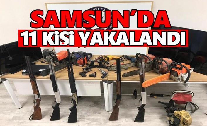 Samsun'da Yakalanan 11 Kişi Adliye'ye sevk edildi