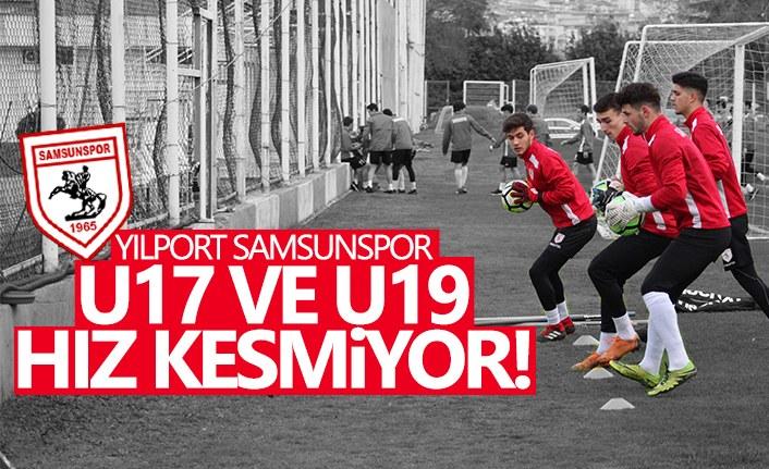 Yılport Samsunspor U17 ve U19 Hız Kesmiyor!